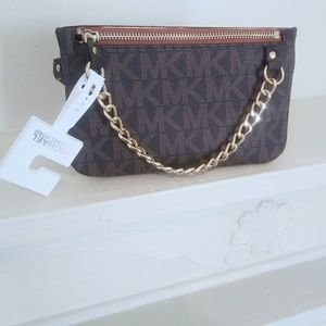 New with tag Michael Kors belt bag with pull chain